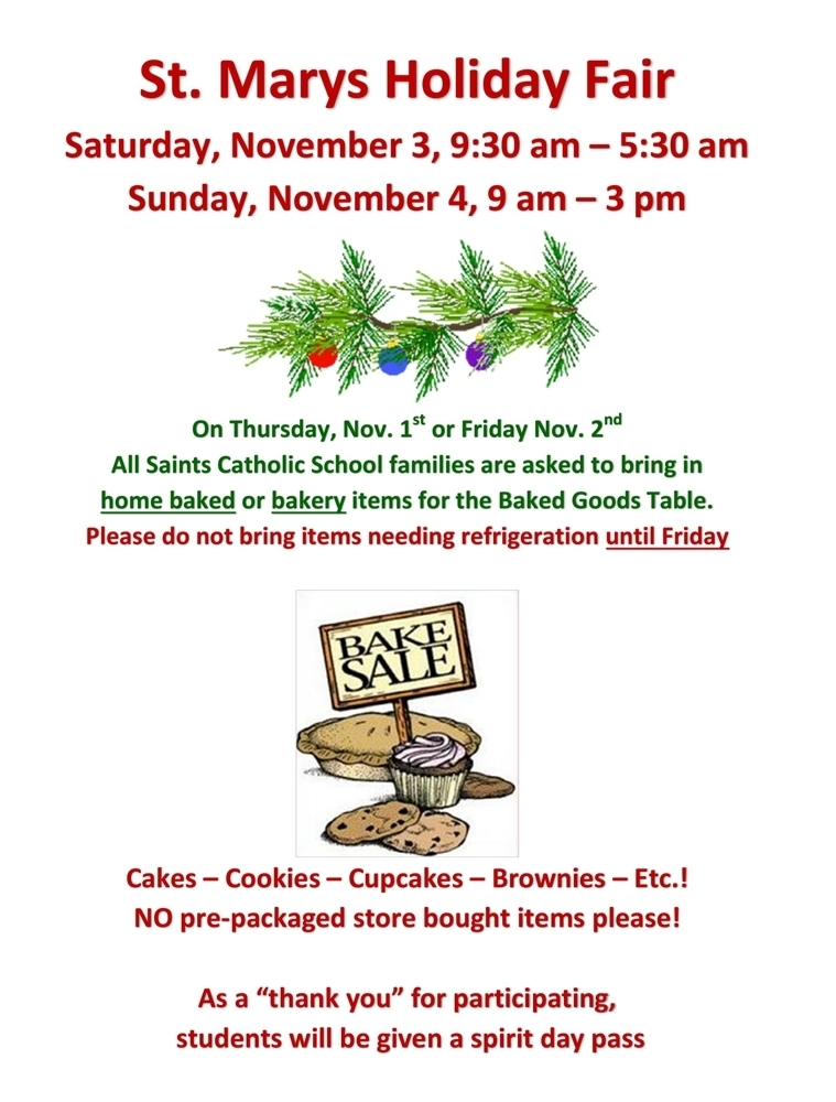 St. Mary's Holiday Fair
