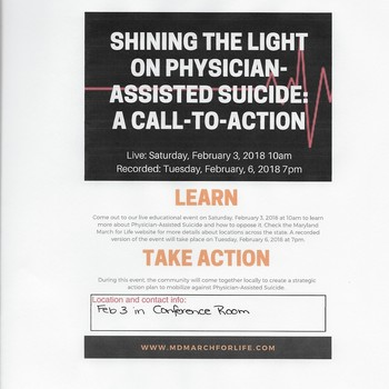 Call to Action: Physician Assisted Suicide