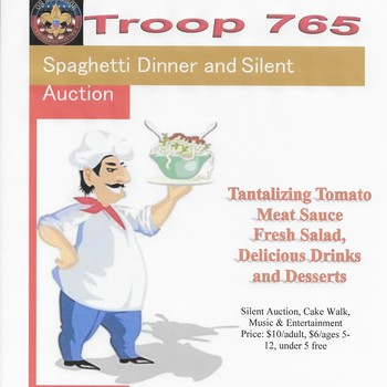 Spaghetti Dinner to Benefit Boy Scout Troop 765