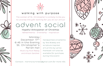 Walking With Purpose Advent Social