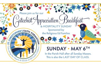 Hospitality Sunday/Catechist Appreciation Breakfast