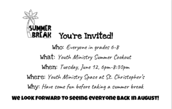 Youth Ministry Cookout