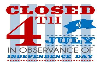 Parish Office Closing July 4-5