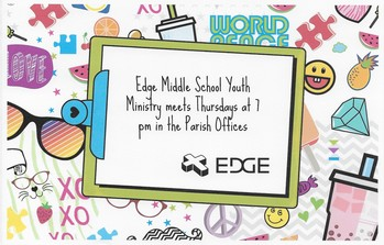 Edge Middle School Youth Ministry Now Meeting