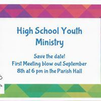 High School Youth Ministry Starting!