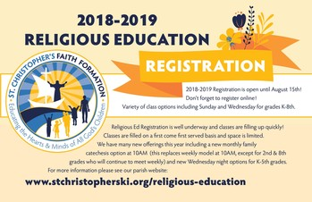 Religious Ed Registration
