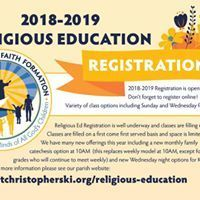 Religious Ed Registration Closes This Week!