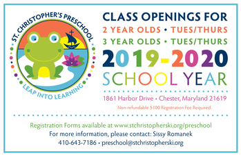 Preschool Class Openings for 2 & 3 Year Olds