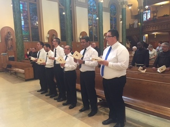 Six New Postulants Receive Tau Cross