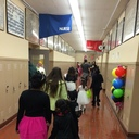 VASJ seniors welcome elementary students for annual Halloween on Campus event