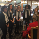 VASJ's Lady Vikings Choir visits nursing homes for Valentine's Day