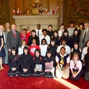 VASJ students and Japanese visitors meet Cleveland Mayor Frank Jackson