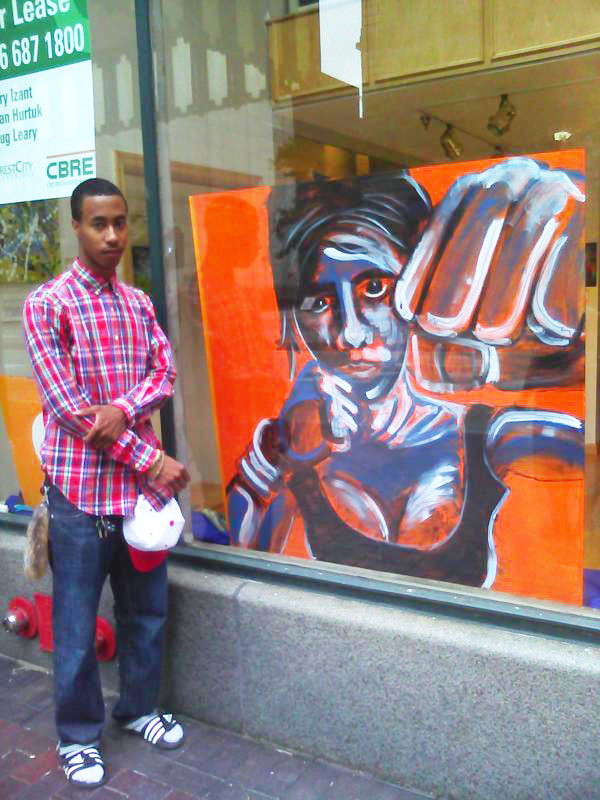 VASJ student Derek Witcher's artwork part of mural at Cleveland Clinic