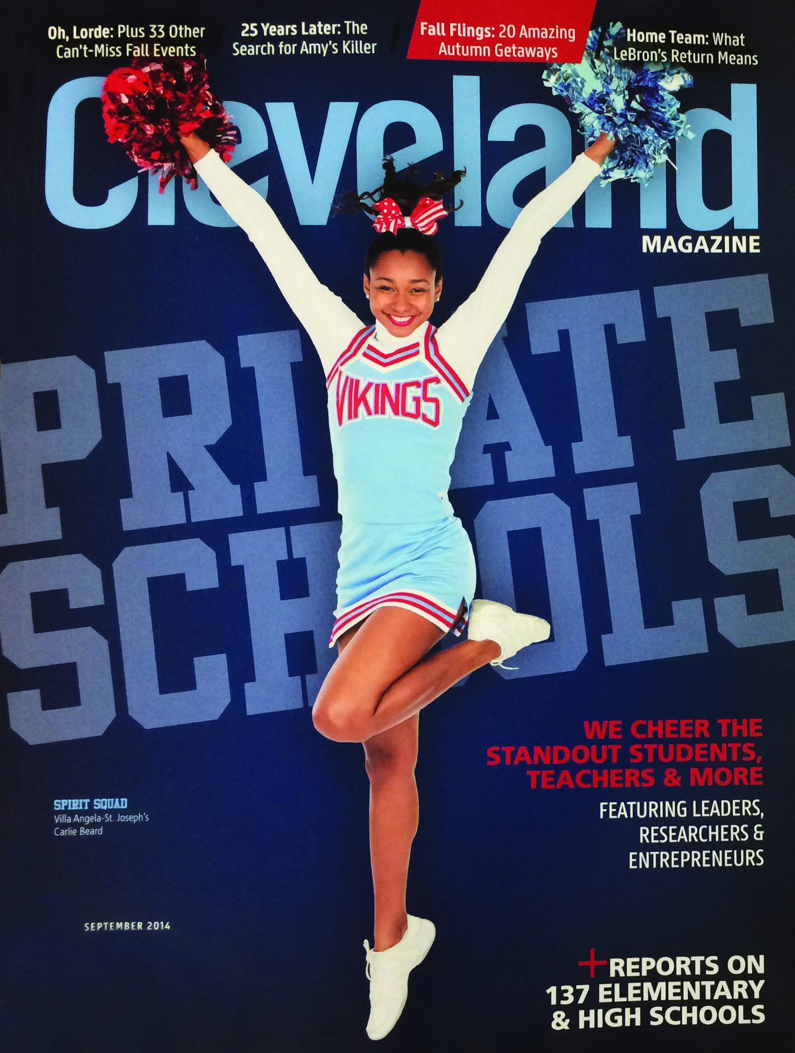In the News: VASJ's Carlie Beard '16 featured on cover of Cleveland Magazine
