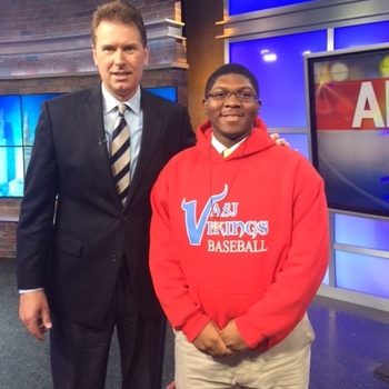 VASJ senior Devin Baisden visits Channel 19 news