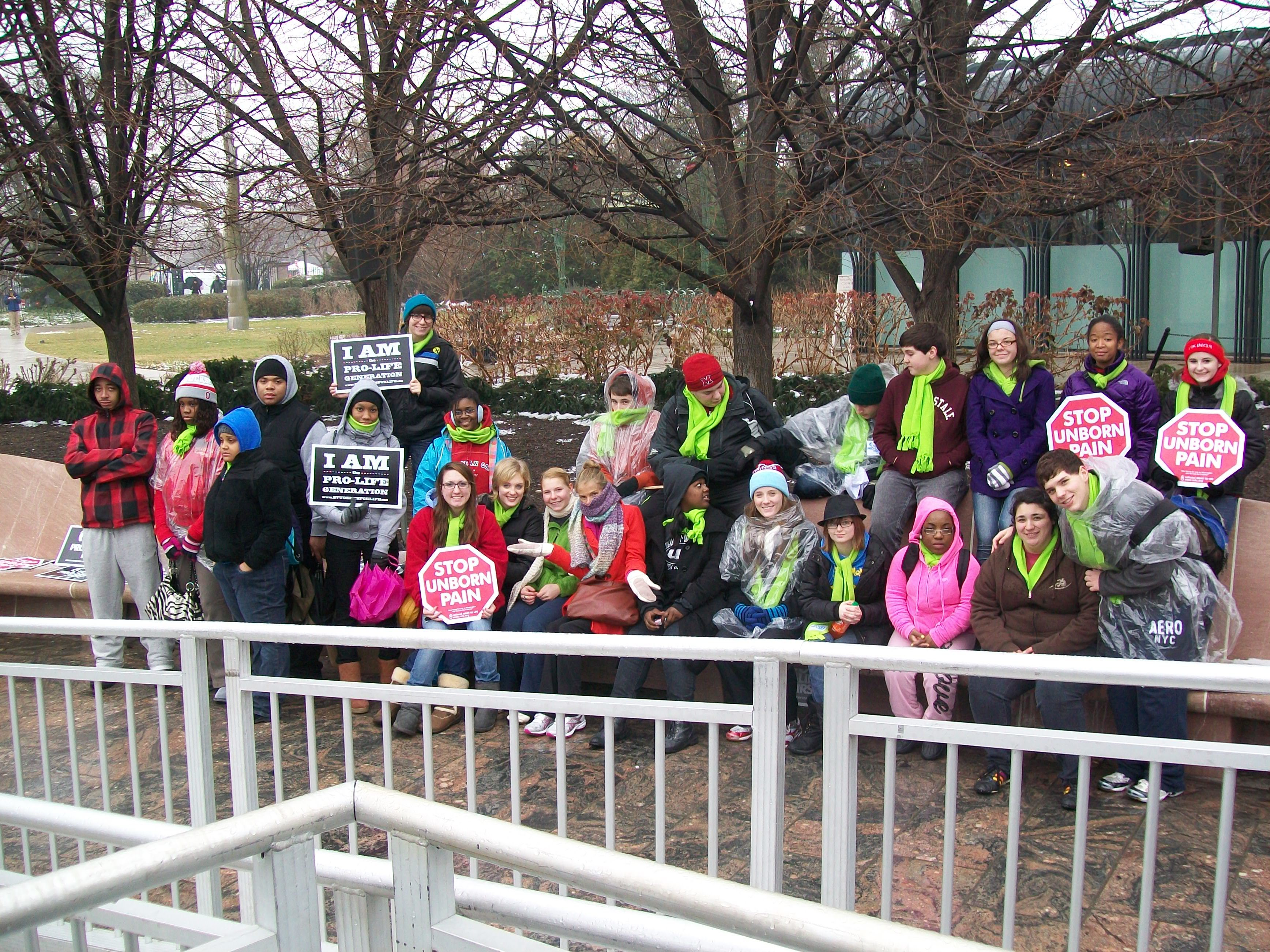 VASJ students attend 39th Annual Right to Life March in Washington D.C.