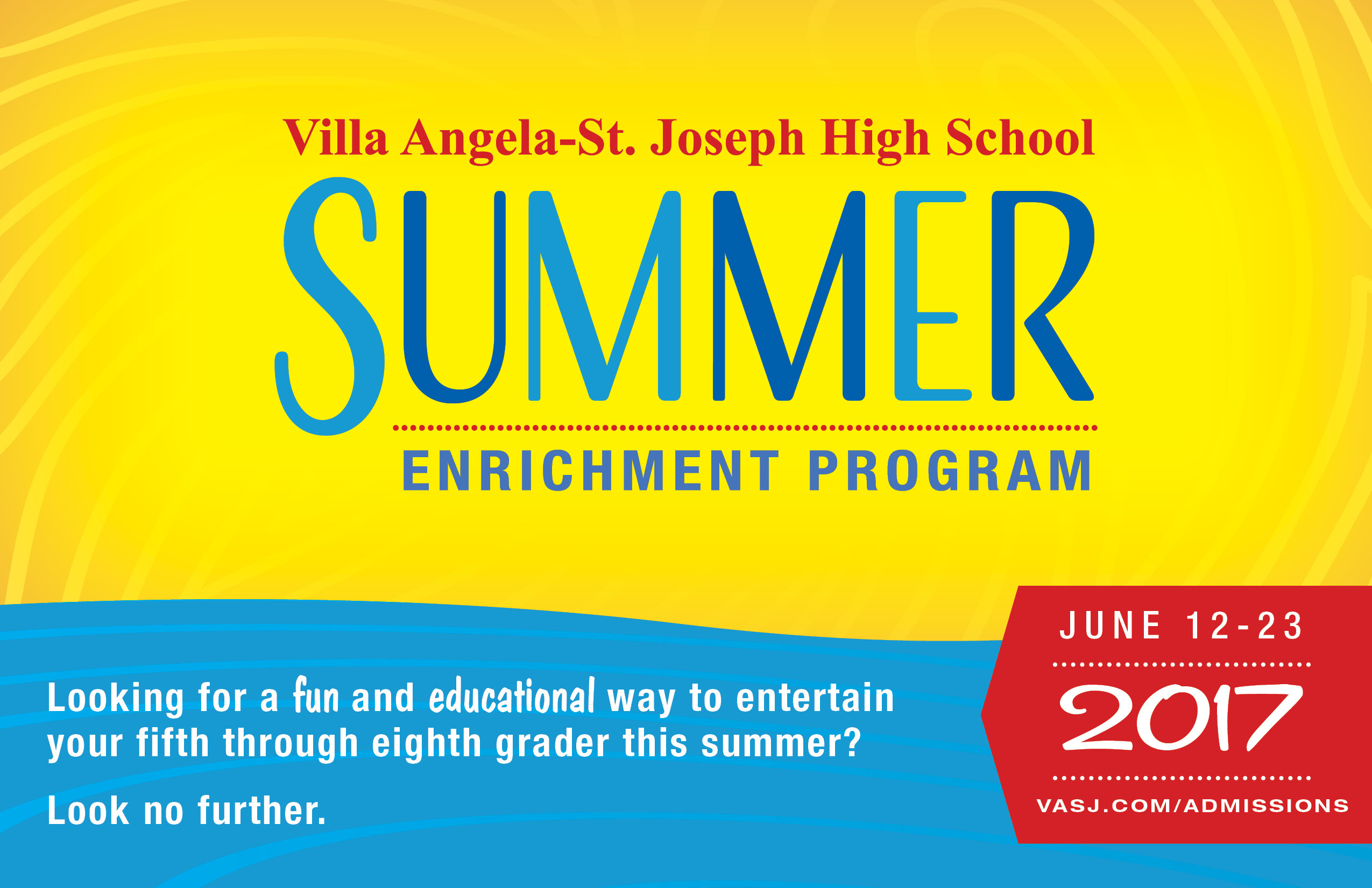 VASJ to offer two Summer Enrichment Programs in June