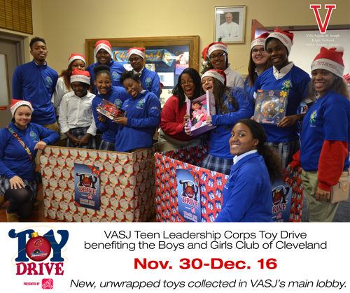 VASJ students hold Toy Drive to benefit Boys and Girls Club of Cleveland
