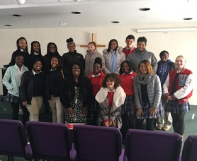 Christian Leadership students deliver items to women and children's shelter