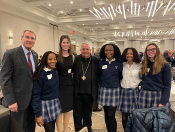 VASJ students attend luncheon with Bishop Perez