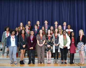 24 VASJ students inducted into National Honor Society