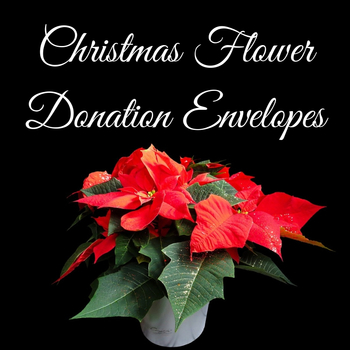 Christmas Flower Donation Envelopes