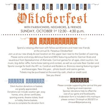 Oktoberfest Sign Up to Volunteer!