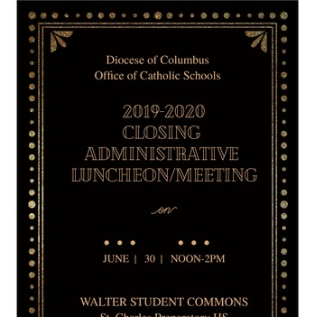 MEETING - 2019-2020 Closing Administrative Luncheon Meeting
