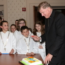 St. Joseph's altar servers collect pennies for Partners in Charity