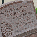 Monument declares parish is pro-life