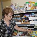Shoppers make choices at Oxford Ecumenical Food Shelf