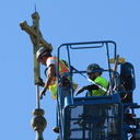 Cross removed from top of Mount Carmel