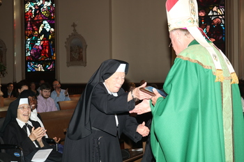 Sisters honored at Mass for retired religious