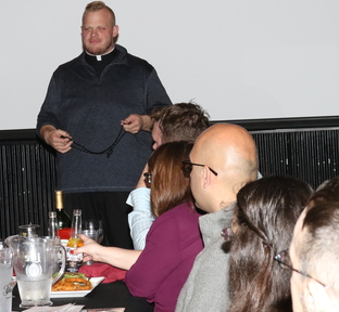 Young people attend Theology on Tap