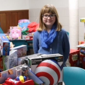 'She absolutely saved the toy drive'
