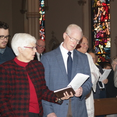 Married couples blessed by Bishop