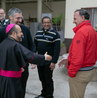 Diocesan priests visit facilities on and over the border
