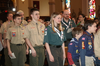 Scouts receive awards
