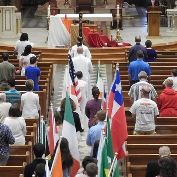 Sacred Heart in Milford celebrates Pentecost, Stigmatines