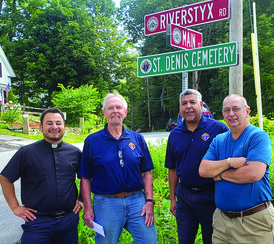 Knights make clear the way to St. Denis Cemetery, Ashburnham