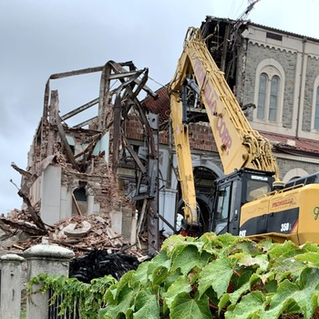 Demolition begins on main part of Our Lady of Mount Carmel Church