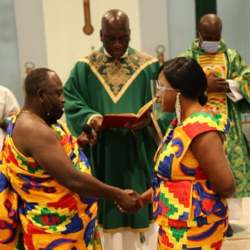 Bishop sends blessings to married couples