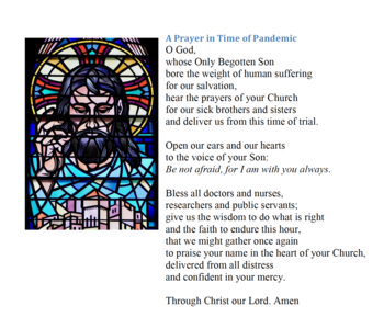 A prayer in the time of pandemic