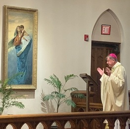Bishop renews consecration to Mary