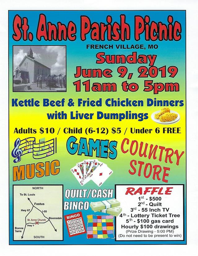 St. Anne Parish Picnic, June 9, 2019