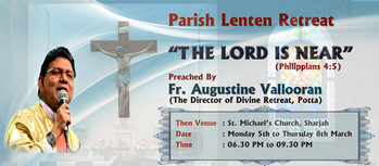Parish Lenten Mission by Fr. Augustine Vallooran