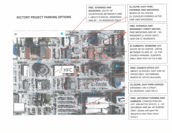 Rectory Project Parking Options