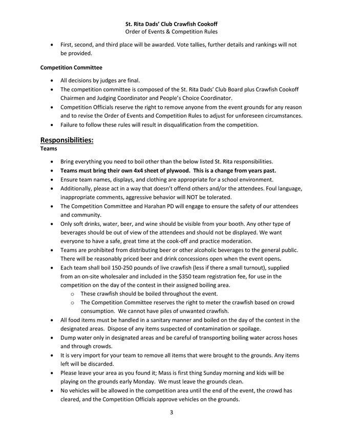 Crawfish Cookoff Events and Rules Page 3 of 5