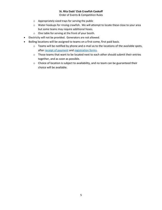 Crawfish Cookoff Events and Rules Page 5 of 5