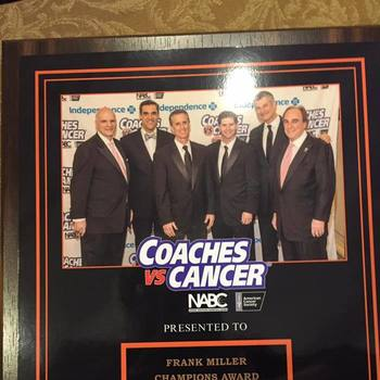 Coaches vs Cancer Champions Award Winner